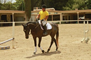 Chris Cervantes and Roxy The Thoroughbred Horse