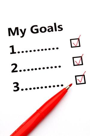Goal Check List
