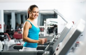 Woman Running for Cardio Exercise